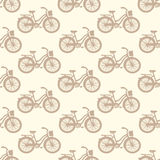 Seamless pattern with colorful vintage bicycles Royalty Free Stock Images