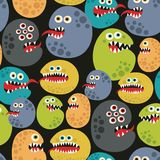 Seamless pattern with colorful virus monsters. Stock Images