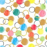 Seamless pattern with colorful watercolor bubbles. Vector celebration background. Seamless pattern with colorful watercolor bubbles Royalty Free Stock Photos