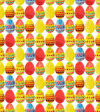 Seamless pattern with colorful watercolor Easter Eggs Royalty Free Stock Photos