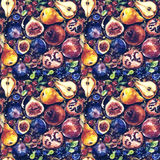 Seamless pattern. Colorful watercolor fruit. Royalty Free Stock Photos