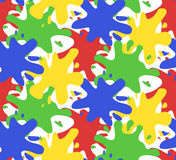 Seamless pattern with colorful watercolor splashes Royalty Free Stock Photography