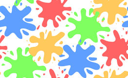 Seamless pattern with colorful watercolor splashes. For your creativity stock illustration
