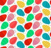 Seamless pattern of colorful wavy Eastrer eggs Stock Image