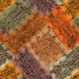 Seamless pattern with colorful weave grunge striped rectangular Royalty Free Stock Image