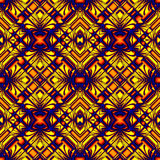 Seamless pattern in colors of fire. Yellow red seamless pattern in hot colors stripes and wrinkles in the form of rhombuses royalty free illustration