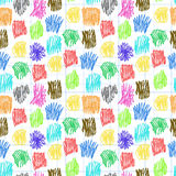 Seamless pattern with colour scrawl Stock Images