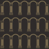 Seamless pattern with columns Stock Image