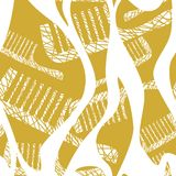 Seamless pattern with comb. Vector illustration of a seamless pattern with comb Royalty Free Stock Image