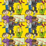 Seamless pattern of comedic Stock Photos