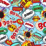 Seamless pattern comic speech bubbles stock illustration