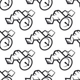 Seamless pattern of communications satellite icon Royalty Free Stock Images