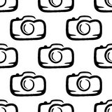 Seamless pattern of a compact camera Royalty Free Stock Photo
