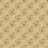 Seamless Pattern Of Compasses Royalty Free Stock Photo