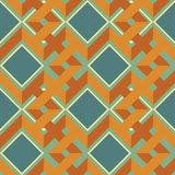 Seamless pattern of complex interwoven zigzag lines and squares. Seamless abstract geometric pattern of complex interwoven zigzag lines and squares in retro Stock Photos