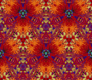 Seamless pattern composed of abstract elements located on a color background Royalty Free Stock Image
