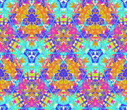 Seamless pattern composed of bright color abstract elements located on white background Royalty Free Stock Photo