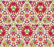 Seamless pattern composed of bright color abstract elements located on white background. Stock Photos