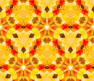 Seamless pattern composed of bright color abstract elements located on white background Royalty Free Stock Photography