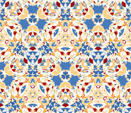 Seamless pattern composed of color abstract elements located on white background Royalty Free Stock Photos