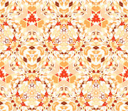 Seamless pattern composed of color abstract elements located on white background Stock Photo