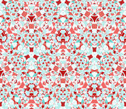 Seamless pattern composed of color abstract elements located on white background Royalty Free Stock Photo