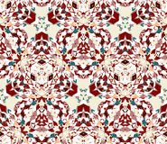 Seamless pattern composed of color abstract elements located on white background. Stock Photography