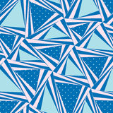 Seamless pattern composed of triangular pieces Royalty Free Stock Photography