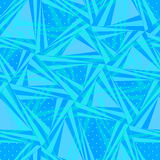 Seamless pattern composed of triangular pieces. Stock Photography