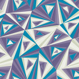 Seamless pattern composed of triangular pieces. Royalty Free Stock Photos
