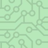 Seamless pattern. Computer circuit board. Royalty Free Stock Photos