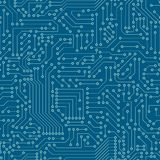 Seamless pattern. Computer circuit board. Stock Images