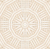 Seamless pattern concentric circle pattern beige white Royalty Free Stock Images