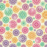 Seamless Pattern with Concentric Circles Stock Image