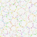 Seamless pattern. Concentric circles on a light background. They. Consist of small multicolored blots. Circles intersect and overlap. Abstract multicolored royalty free illustration