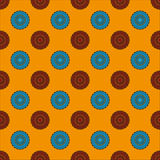 Seamless Pattern with Concentric Circles Royalty Free Stock Photos