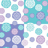 Seamless Pattern with Concentric Lace Circles. Set of Vector Backgrounds Vector Illustration