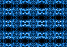 Seamless pattern of concert lighting against a dark background Stock Photography