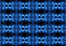 Seamless pattern of concert lighting against a dark background Royalty Free Stock Images