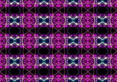 Seamless pattern of concert lighting against a dark background Stock Photos