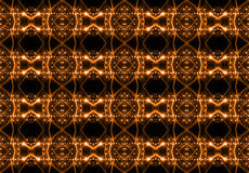 Seamless pattern of concert lighting against a dark background Royalty Free Stock Photos