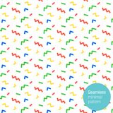 Seamless pattern in colors with geometric elements. Minimal fun style. Best for posters, postcards, fabric or wrapping paper. Seamless pattern confetti in colors Royalty Free Stock Image
