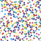 Seamless pattern with confetti Royalty Free Stock Photo