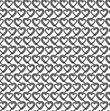 Seamless Pattern Connected Hearts Stock Images
