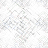 Seamless pattern with connected lines and dots Royalty Free Stock Images