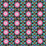 Seamless pattern consist of flowers and butterflie Royalty Free Stock Images