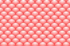 A seamless pattern consisting of chicken eggs in a red color and realistic shape. Vector illustration Stock Images