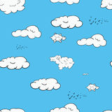 Seamless pattern consisting of clouds Royalty Free Stock Image