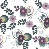 Abstract flower background. Seamless pattern consisting of colorful abstract flowers vector illustration