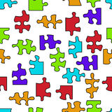 Empty puzzle seamless pattern Royalty Free Stock Photo